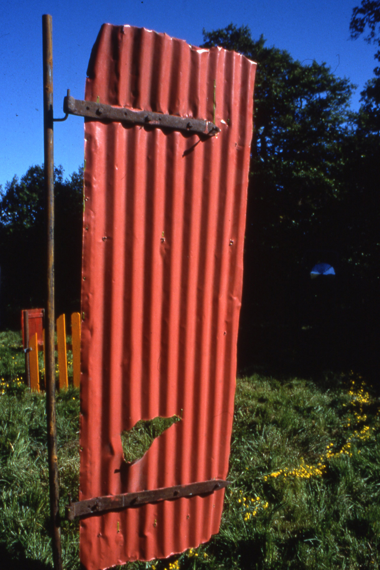 Detail of Gate Spiral, sculptural installation, Lumdsden, Scotland, Paula Brett.