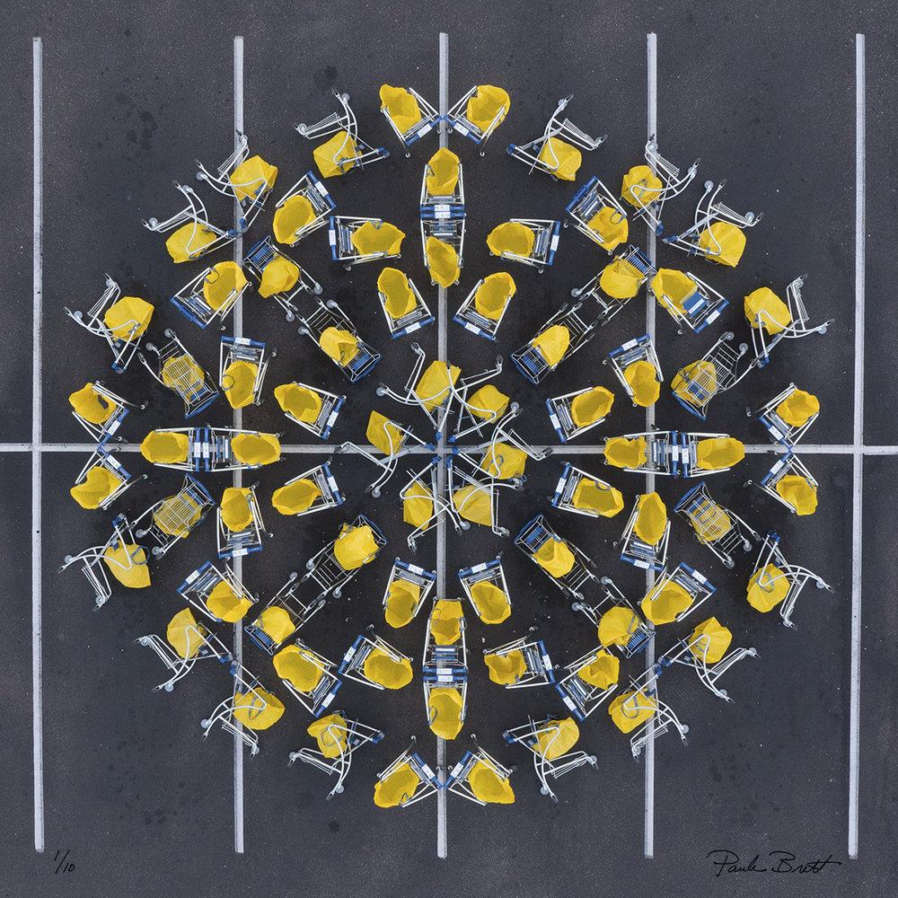 Yellow Shopping Cart Mandala (IKEA, 2016)