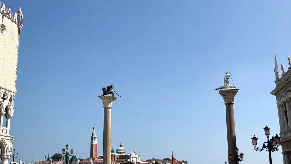 Columns of San Marco and San Teodoro, Piazza San Marco, Venice