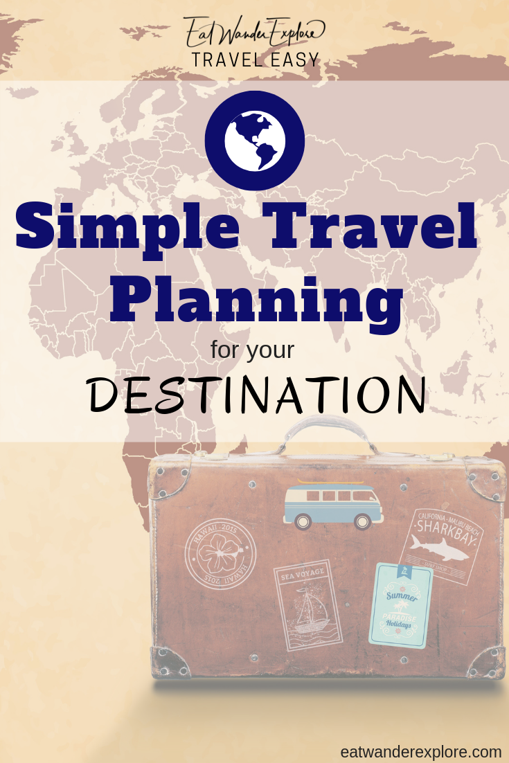 Travel Easy Simple Planning Picking choosing a destination
