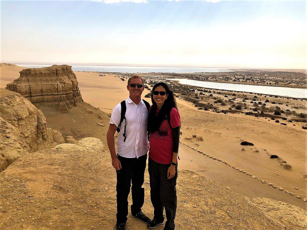 Mudawara Mountain in Wadi Al Rayan, Fayoum Oasis