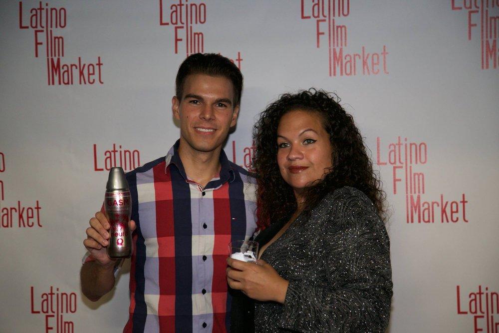 Pamela and Nenad enjoying Nero drinks (sponsor).