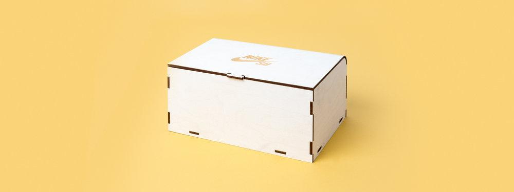white wash wood, finger joint, living hinge, laser cut, Laser engraved box, laser cut box, nike seeding kit, custom fabrication, portland