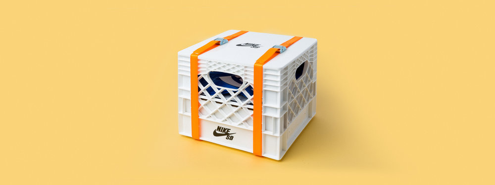 milk crate, custom fabrication, laser engraving, CNC cutting, Nike SB seeding kit, portland, OR, basketball hoop, indoor, collapsible