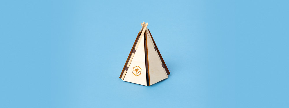 laser cut wood, laser engraved wood, laser cut paper, custom fabrication, tipi, greeting card