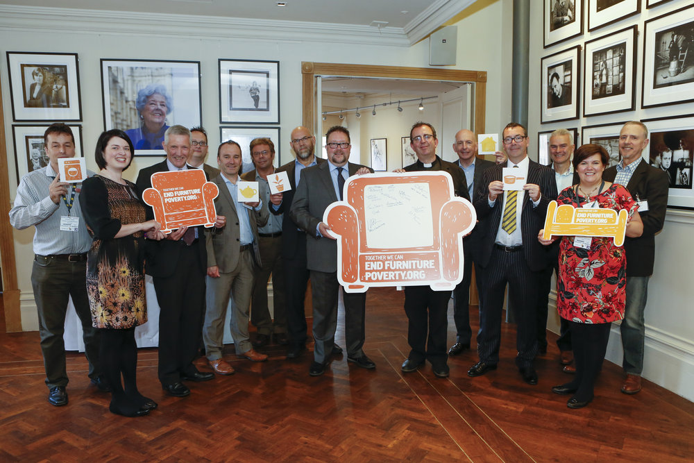 The End Furniture Poverty launch with Rev. Richard Coles