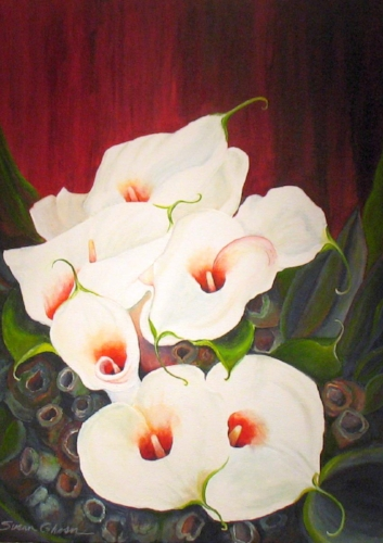 """Marshmallow Lilies with Gumnuts"""