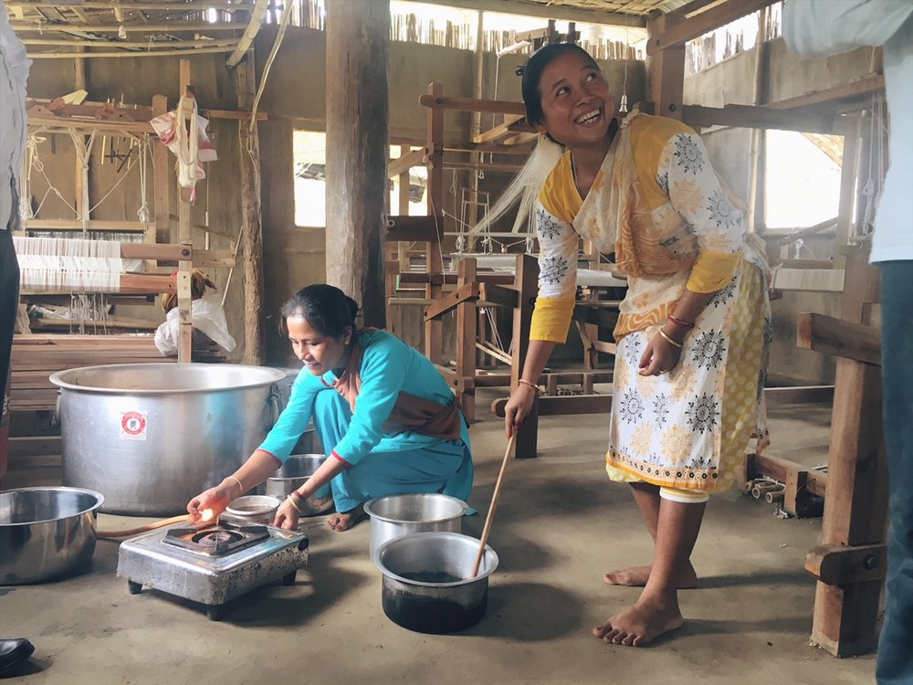 - the beautiful people i work with in the north east of India are supporting Forest Dependent Families as well as promoting womens empowernment. Both projects are trying to establish financia independence of these crafts