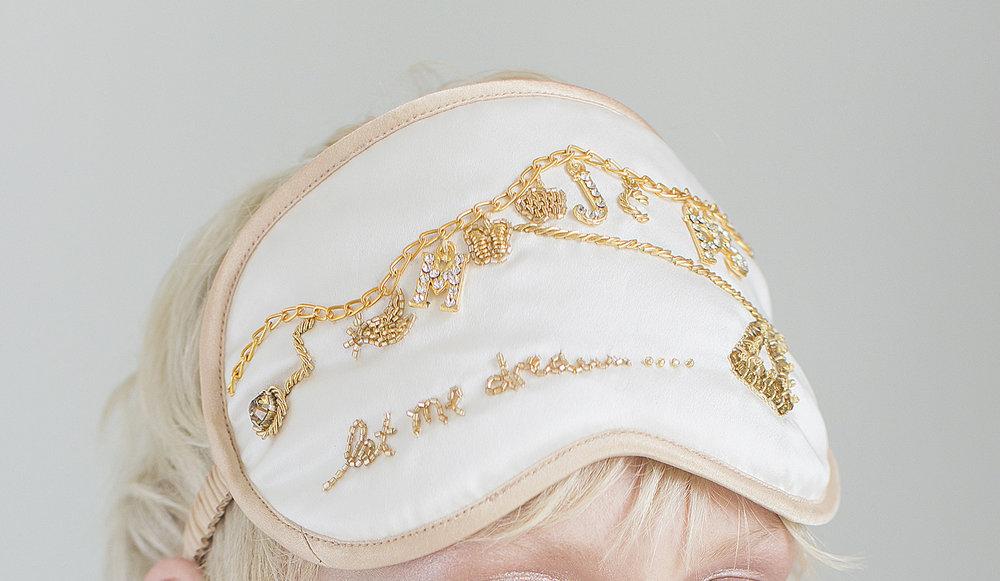 Let Me Dream Mask  bespoke mask for Sophie Keegan & Alex Eagle