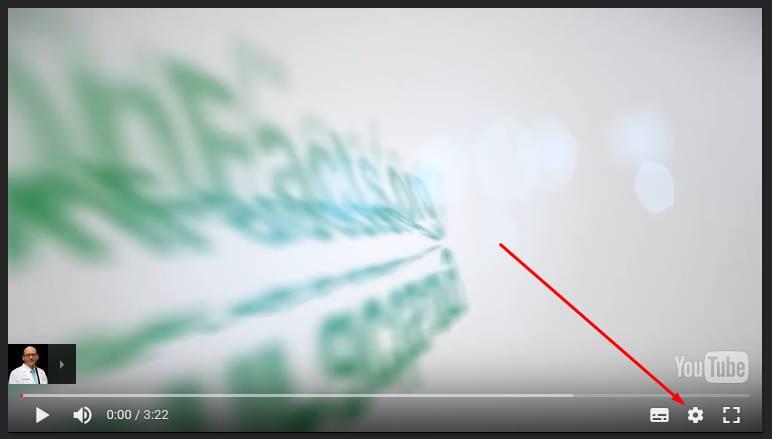 Klik op het tandwiel symbool