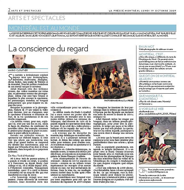 La Presse, October 19, 2009