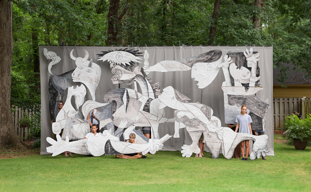 Backyard Guernica (Georgia) 2  2017, archival pigment print 86.5 x 140 cm / 34 x 55 in. Edition of 5 173 x 279 cm / 68 x 110 in. Edition of 2