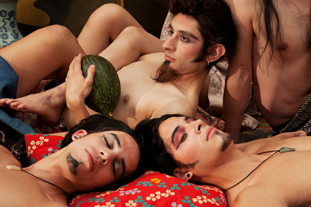 A Period of Rest (with Melon)   2012, colour photograph. 94 x 141 cm / 37 x 55.5 in. Edition of 5 Produced with the assistance of the San Antonio Museum of Art