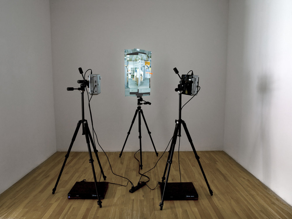 Embrace , installation with 2 channels of video. Installation at Pierre-François Ouellette art contemporain, Montreal, 2008