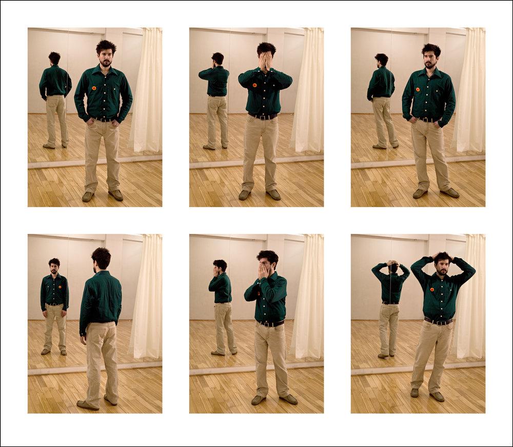 Rehearsing Dan Graham  2008, colour photograph, 70.5 x 80.5 cm / 28 x 32 in. Edition of 7