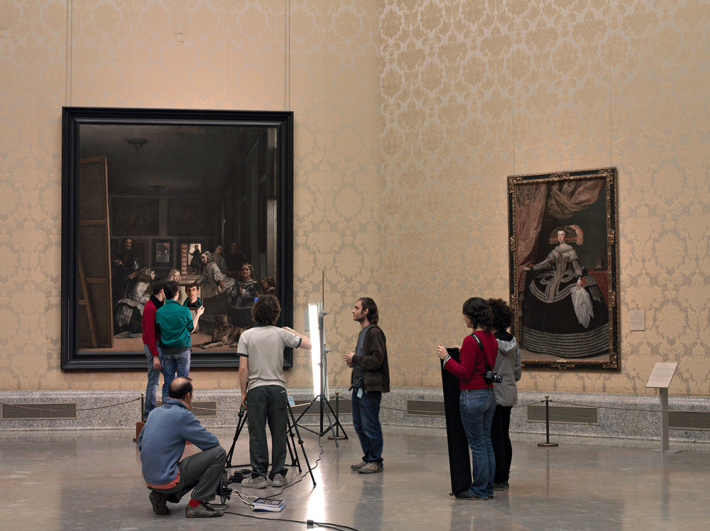 On Location  2008, colour photograph 102 x 136 cm / 40 x 53.5 in. Edition of 7 Produced with the cooperation of the Museo Nacional del Prado