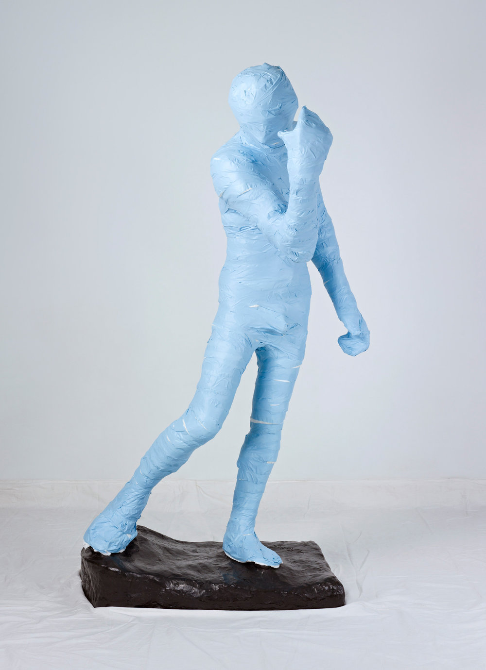Unwrapping Rodin (Blue) 1   2010, colour photograph 127 x 175 cm / 50 x 69 in. Edition of 2