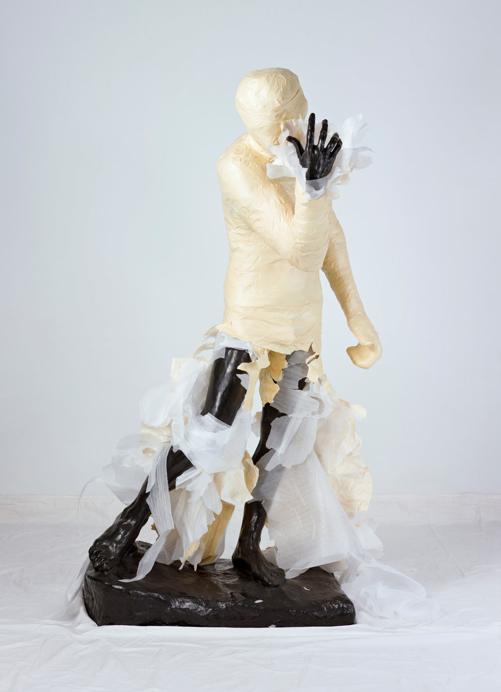 Unwrapping Rodin (White) 4   2010, colour photograph 127 x 175 cm / 50 x 69 in. Edition of 2