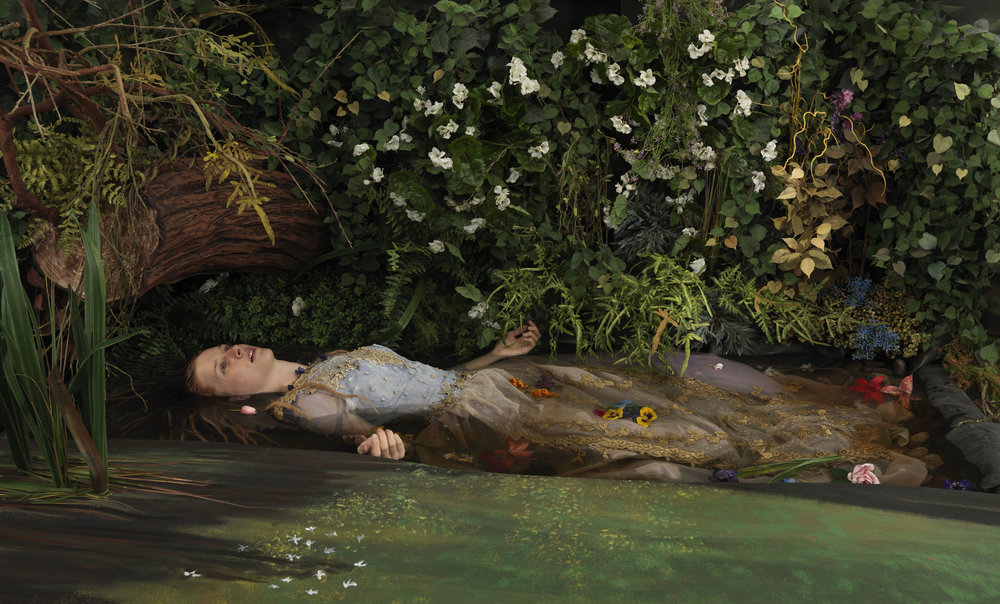 Blackwater Ophelia   2013, archival pigment print 99 x 164 cm / 39 x 64.5 in. Edition of 7 Produced with the assistance of the Judith & Norman Alix Art Gallery