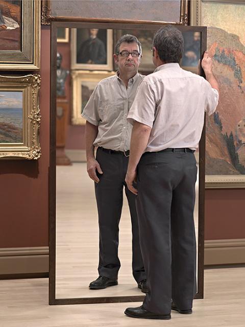 Two Men Mirroring