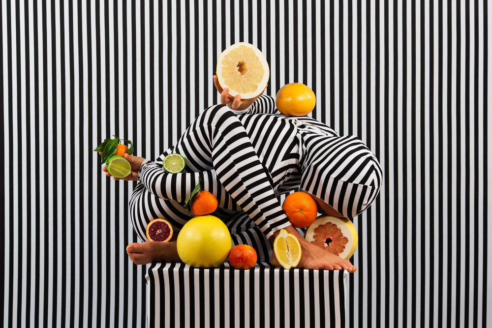 An Arrangement (Stripes Case Study 1)  2018, archival pigment print 61 x 91.5 cm / 24 x 36 in. Edition of 3