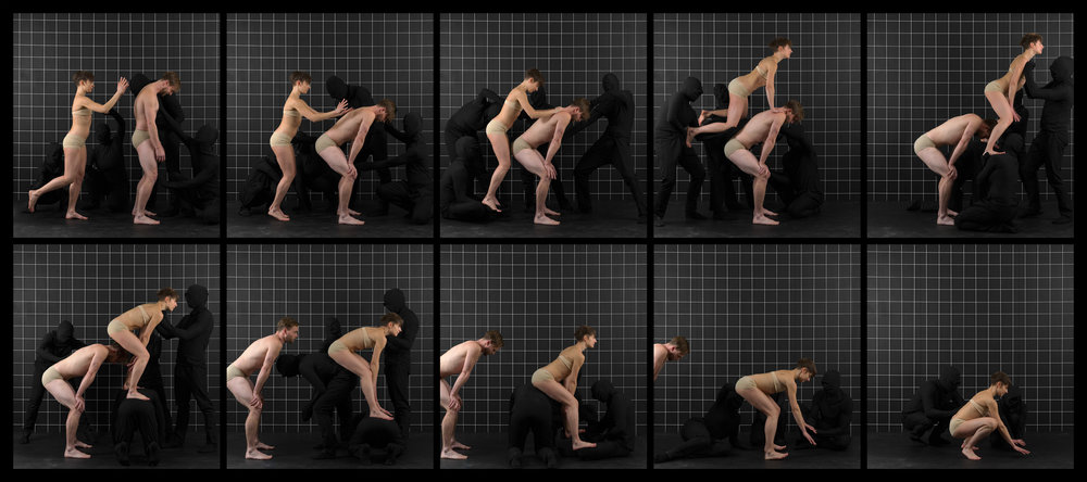 "After Muybridge (Leap Frog)  2016, archival pigment print 46.5 x 104 cm (18.25"" x 41"")  93 x 208.5 cm (36.5"" x 82"") Editions of 2"