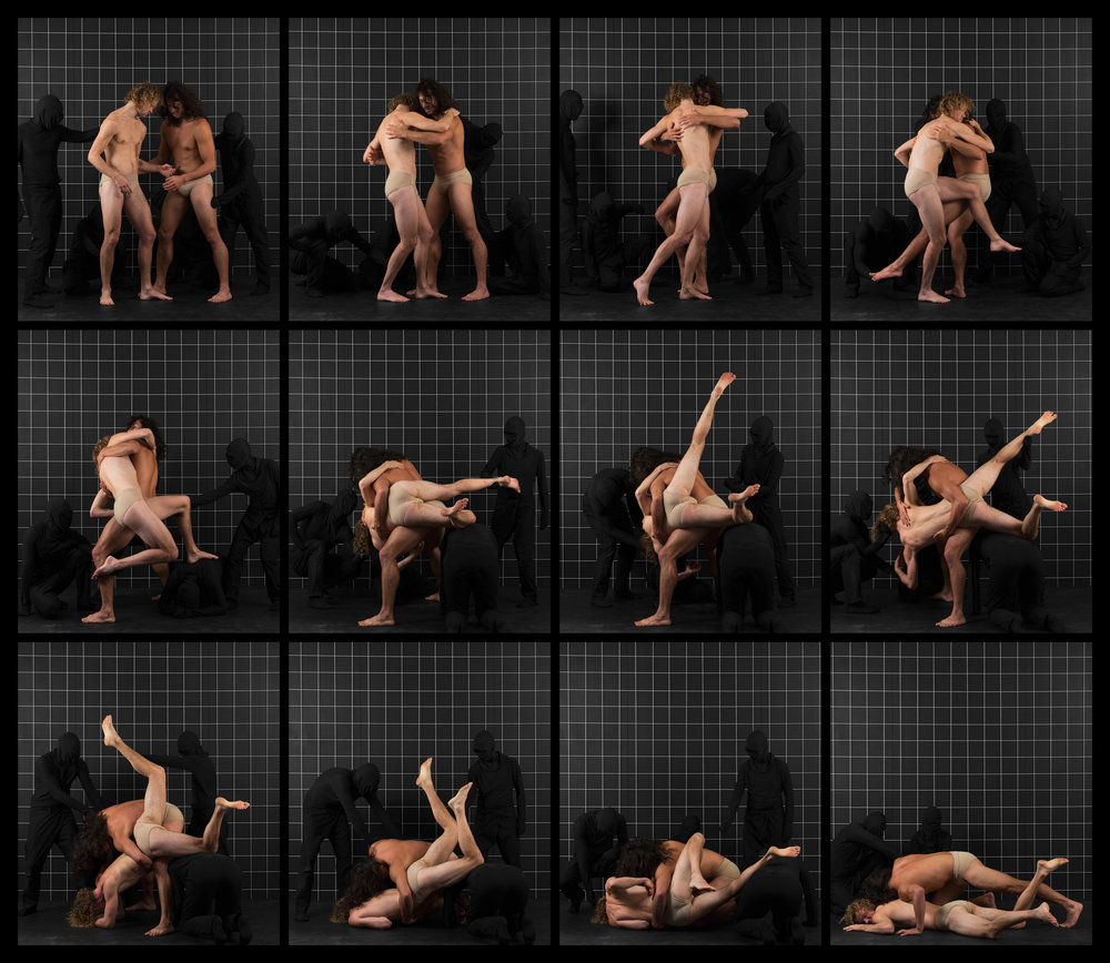 "After Muybridge (Wrestlers 1)  2016, archival pigment print 68.5 x 78.5 cm (27"" x 31"")  137 x 157.5 cm (54"" x 62"") Editions of 2"