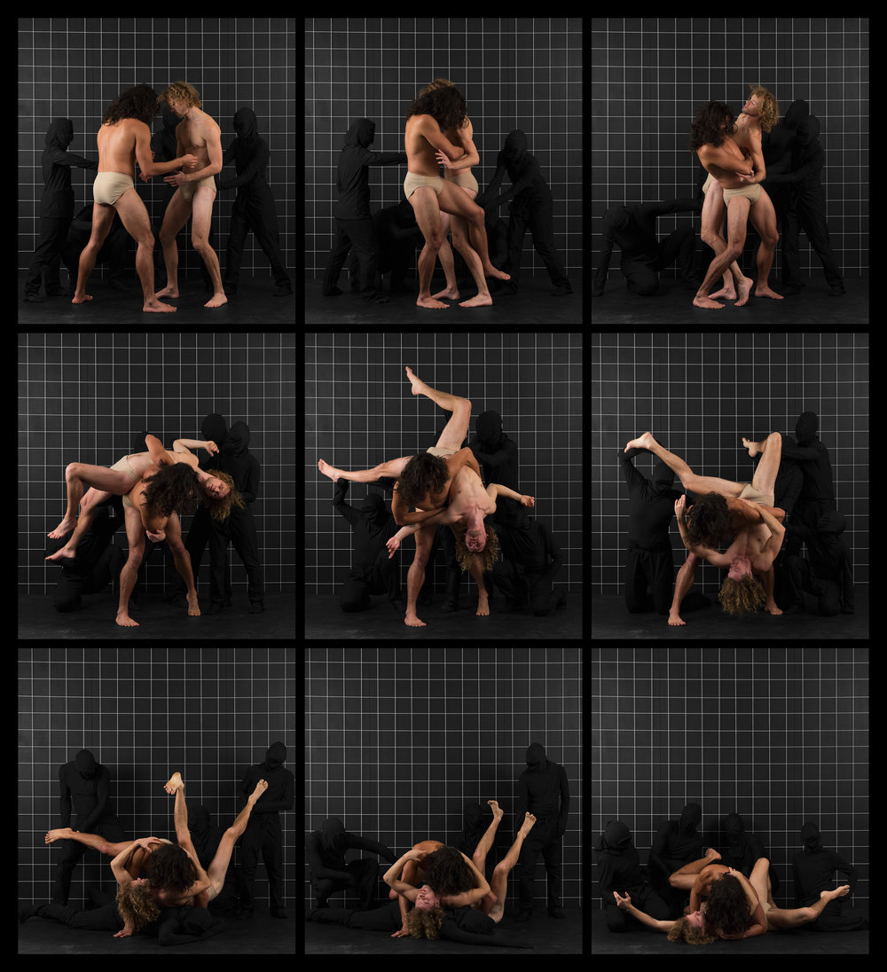 "After Muybridge (Wrestlers 2)  2016, archival pigment print 68.5 x 62 cm (27"" x 24.5"")  137 x 124.5 cm (54"" x 49"")  Editions of 2"