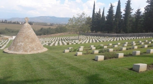 Doiran Military Cemetery, near the Macedonian border, is the lasting resting place for 1,338 Commonwealth troops, 449 of them unidentified (Photo © Commonwealth War Graves Commission)