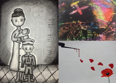 a selection of Winning art entries