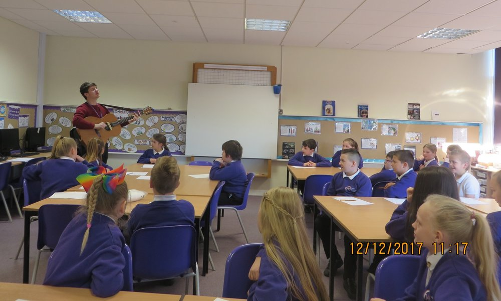 Marty visited the school for a free songwriting workshop, and the pupils wrote 'This Girl Can'