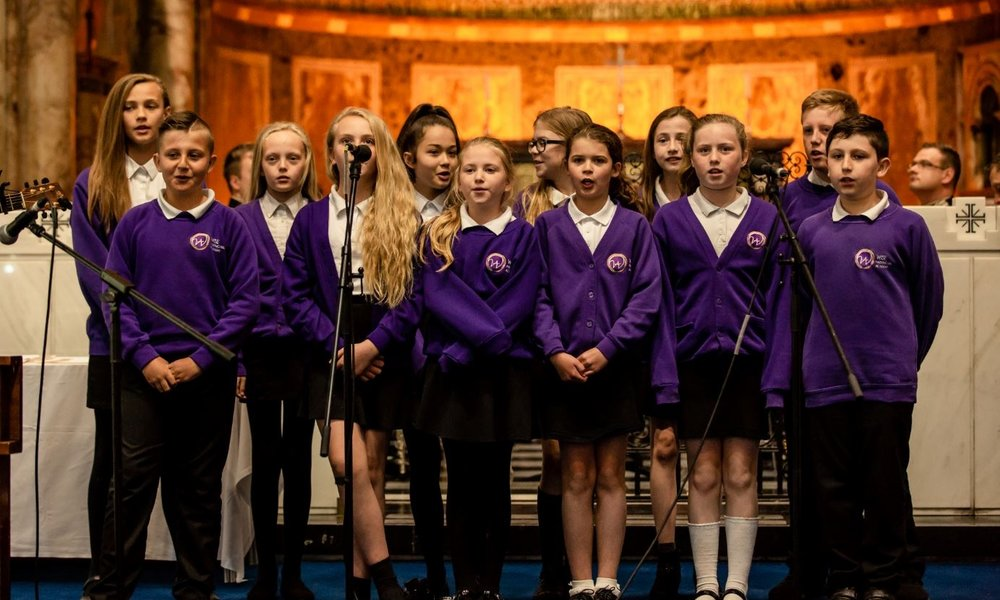 As the winners of their age group, Hasting Hill were invited to London where they sang for the VIPs!