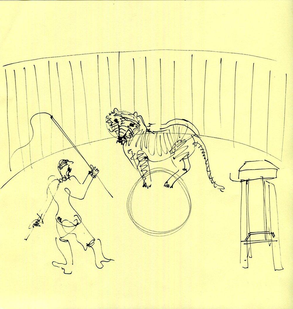 Circus sketching