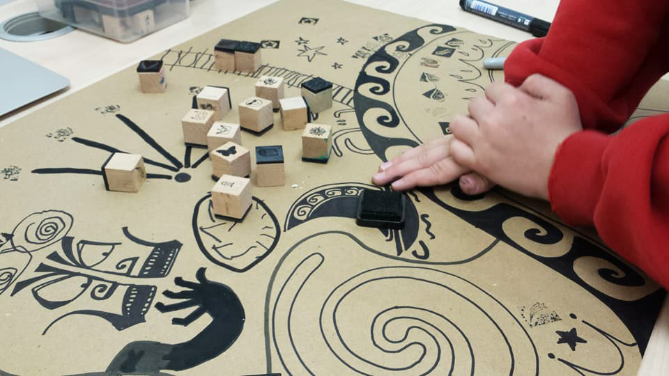 Block printing & drawing