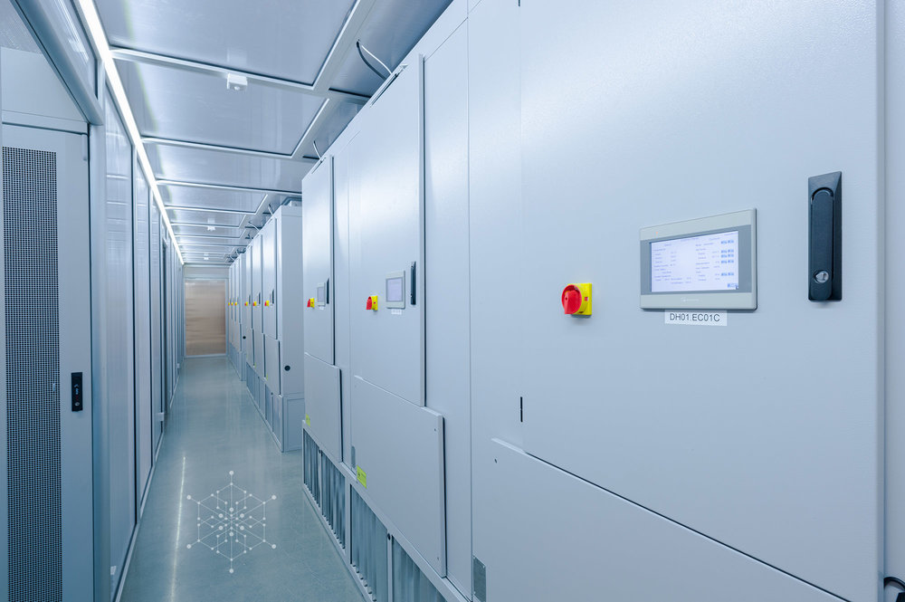 ECT 10800 CloudCoolers down corridor at Hydro66 data centre