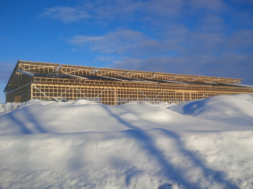 Blockbase CloudCooler data centre install and build in snow. Nordic