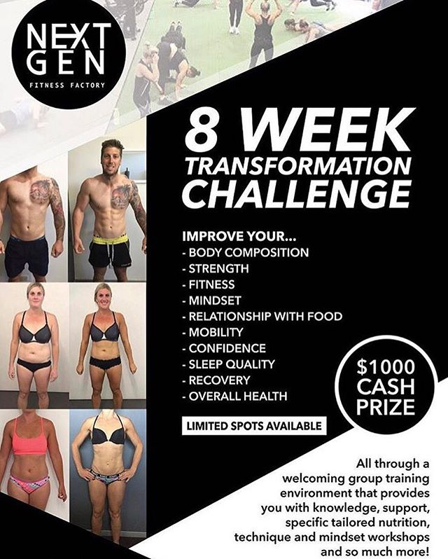 "⚠️💪🏻ATTENTION MALES & FEMALES IN THE EASTERN SUBURBS!! ⚠️💪🏻 •Are you sick of trying, time and time again to improve your health and fitness but just haven't found something that you loved or that worked? •Are you always unsure what you should be eating? •Sick of boring workouts alone at a gym, or not motivated to exercise at all? •Are you done with self sabotaging and want to make a change?  What if while working on increasing your strength and fitness, you could also learn how to improve your mindset, your relationship with food and gain knowledge around nutrition... What if you could increase your energy, decrease injuries, decrease stress &/or anxiety, improve your moods, increase your sleep quality... PLUS, achieve your body composition goals?  Would you do it? I think the real question should be, why WOULDN'T you do it? ----------------------- 🙌🏼We are looking for 20 legends who are willing and ready to challenge themselves with our 8 Week Transformation Challenge Commencing July 22.  Spots are limited due to trainer availability 🙌🏼 Our 8 Week Challenges are so successful for a number of reasons, our extremely experienced and passionate coaches, our unique accountability and support system and our ability to completely ensure everyone is individually customised.  Most importantly, its our CULTURE… Our next level supportive environment where everyone is considered equal and long term friendships are built. No matter your  age, fitness level, abilities or injuries, we've got your back!! A snippet of what it includes •Unlimited Group Training Sessions •Customised Meal Plan •Mega Technical Workshop •Mindset Coaching •1on1 Weekly Online Check Ins •Incredibly Unique Support & Accountability System  Do not hesitate.. Comment below ""KEEN"" and we will get in touch with further information!"