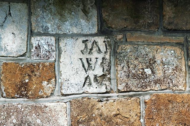 James was here. The tag of a pilgrim graffer of antiquity. Vandalism? Or cultural heritage, communication, and art?  At a Hamble St Andrews Church on the Old Way to Canterbury.  #oldway #pilgrimage #path #way #journey #graffiti