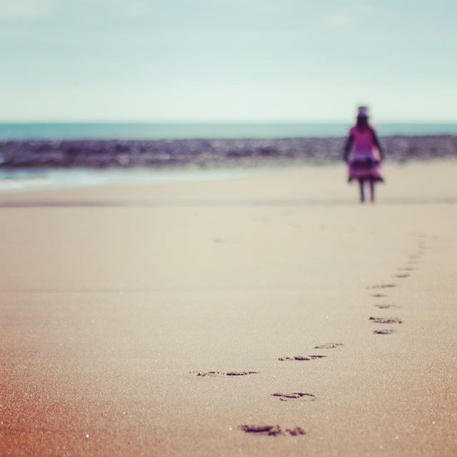 Britain's oldest human remains are fossilised footprints - from 800,000 years ago.  These are lands of ancient pilgrimage.  #oldway #path #walk #journey #camino #pilgrimage #pilgrim #way #britain