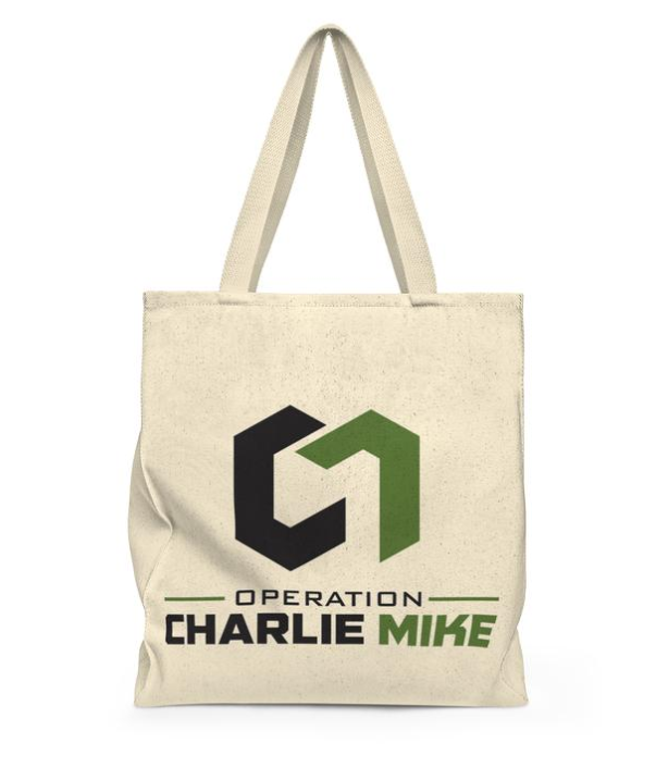 100% COTTON CHARLIE MIKE TOTE - $19.76