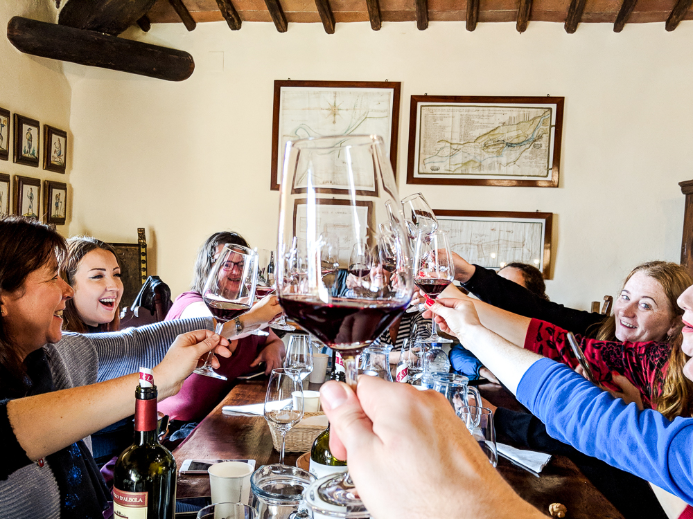 Cheers! Wine tasting at Castello di Albola