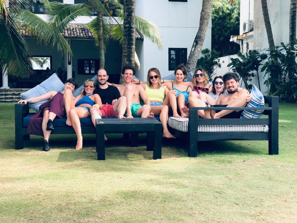 Retreat family photo, Sri Lanka 2019