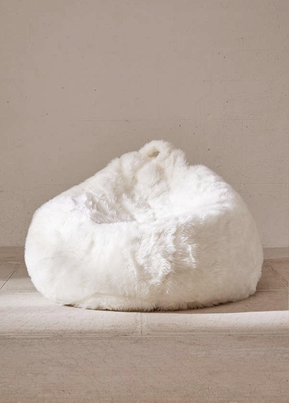 Faux Fur Shag Bean Bag Chair
