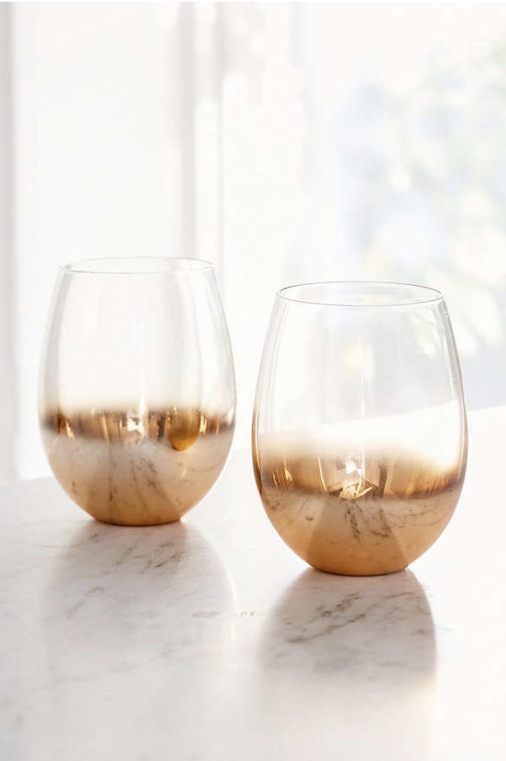 Copper Ombre Stemless Wine Glass