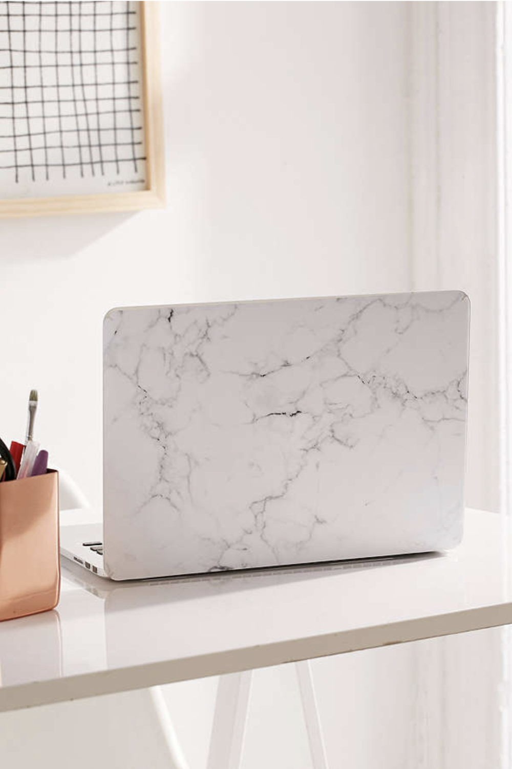 White Marble MacBook Pro Retina Laptop Skin