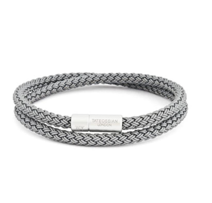 Men's Cable Double-Wrap Bracelet
