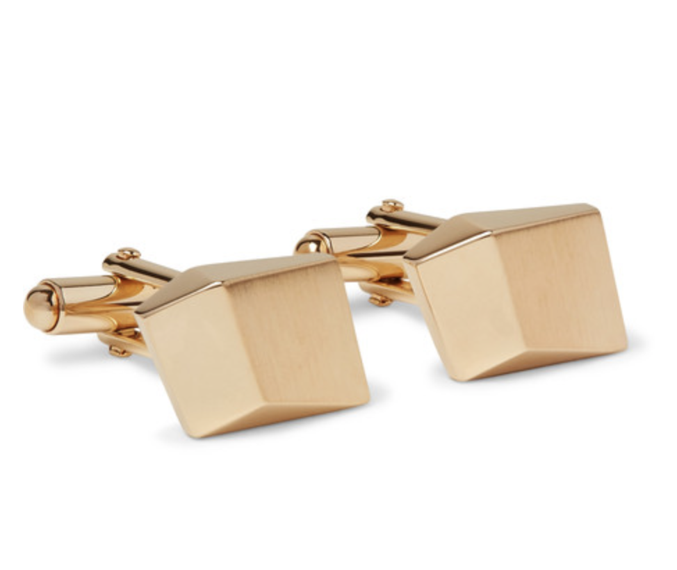 Brushed Gold-Plated Cufflinks