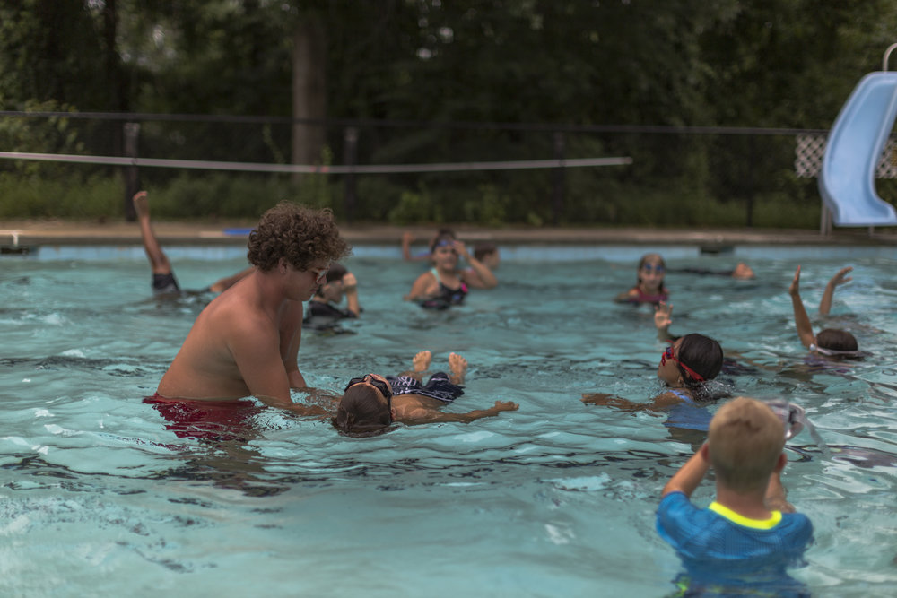 Swimming - From beginners to advanced, CKBY offers structured swimming lessons, and free-swim time every day of camp.