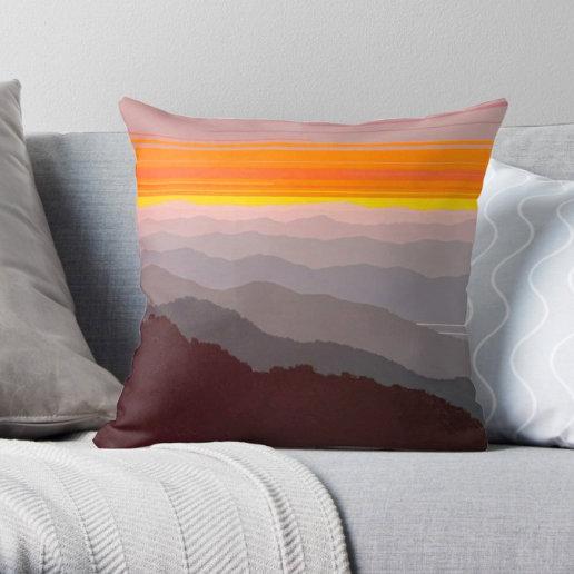 Mountains Image - Pillow