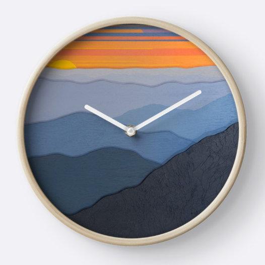 Mountain Ridges - Clock